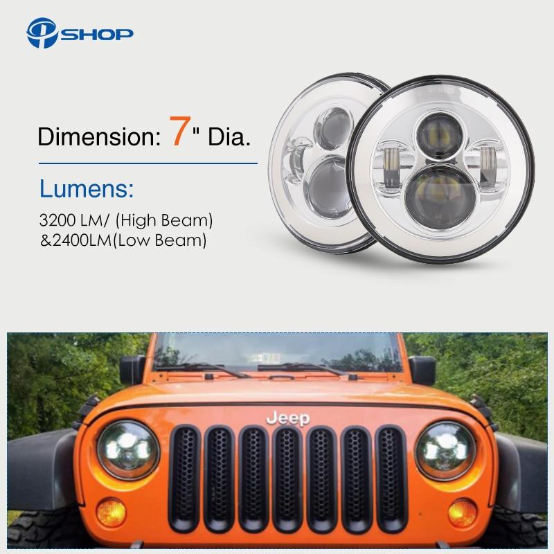"Здесь продается  7 inch LED Halo Headlights 7"" LED Headlight H4 Hi/low Auto Headlight With Angle Eye For Jeep Puch Kenworth Nissan Suzuki Samurai  Автомобили и Мотоциклы"
