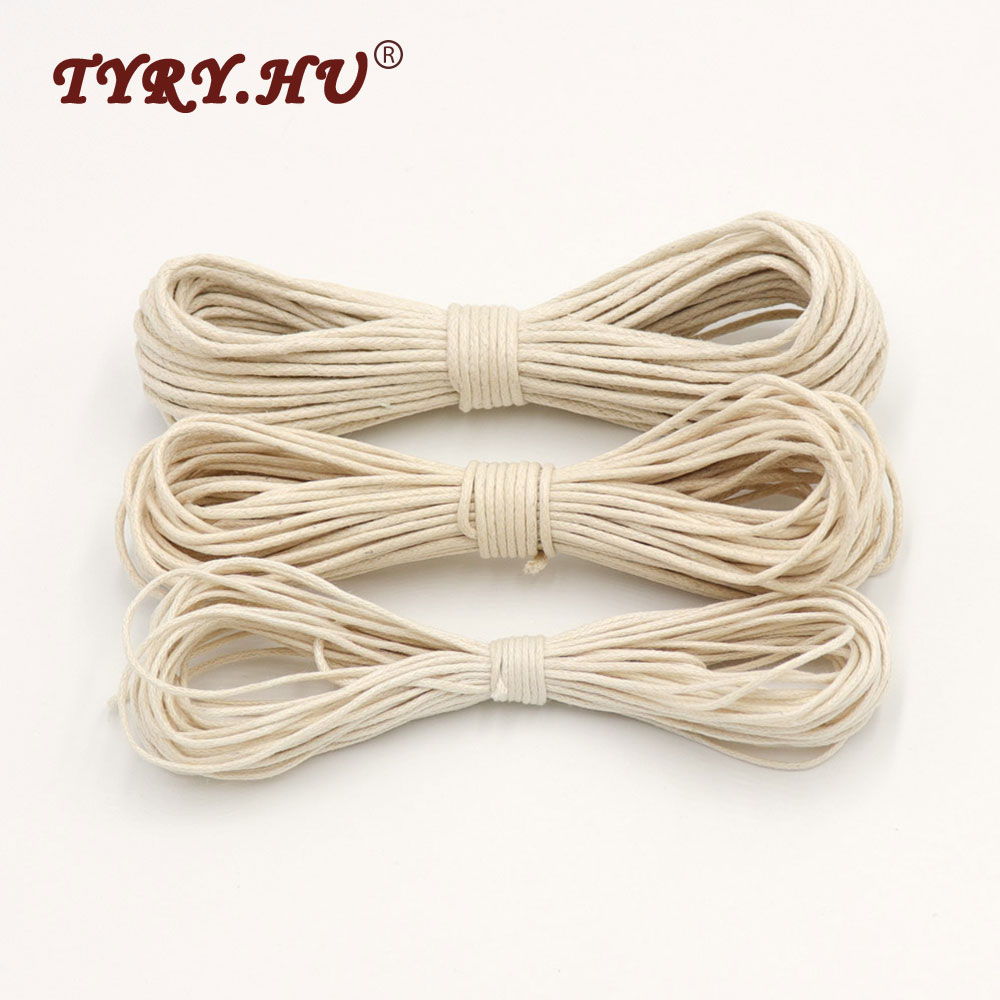 TYRY.HU 1/1.5/1.8mm Waxed Cotton Cord Baby Teether Accessories 10m Rope Waxed Twisted String Thread Line For DIY Jewelry Making