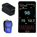 Bluetooth 4.0 OLED Fingertip Pulse Oximeter Finger Oximetro pulso Blood Oxygen SpO2 Saturation Monitor  andriod  ios bluetooth