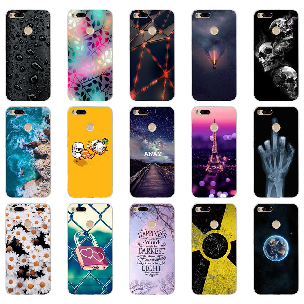 K silicone Cover For Xiaomi MI A1 Case Full Protection Soft
