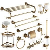 Antique Palace Series European 11 Items For Complete Bathroom Decoration Set Solid Brass Bathroom Set Bathroom Accessories