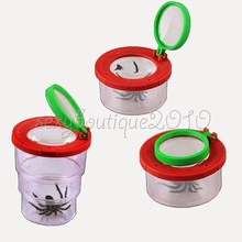 Купить с кэшбэком Kids Toy Insect Viewer Nature Stretchable Box Holder Catcher 3 Times Magnifier