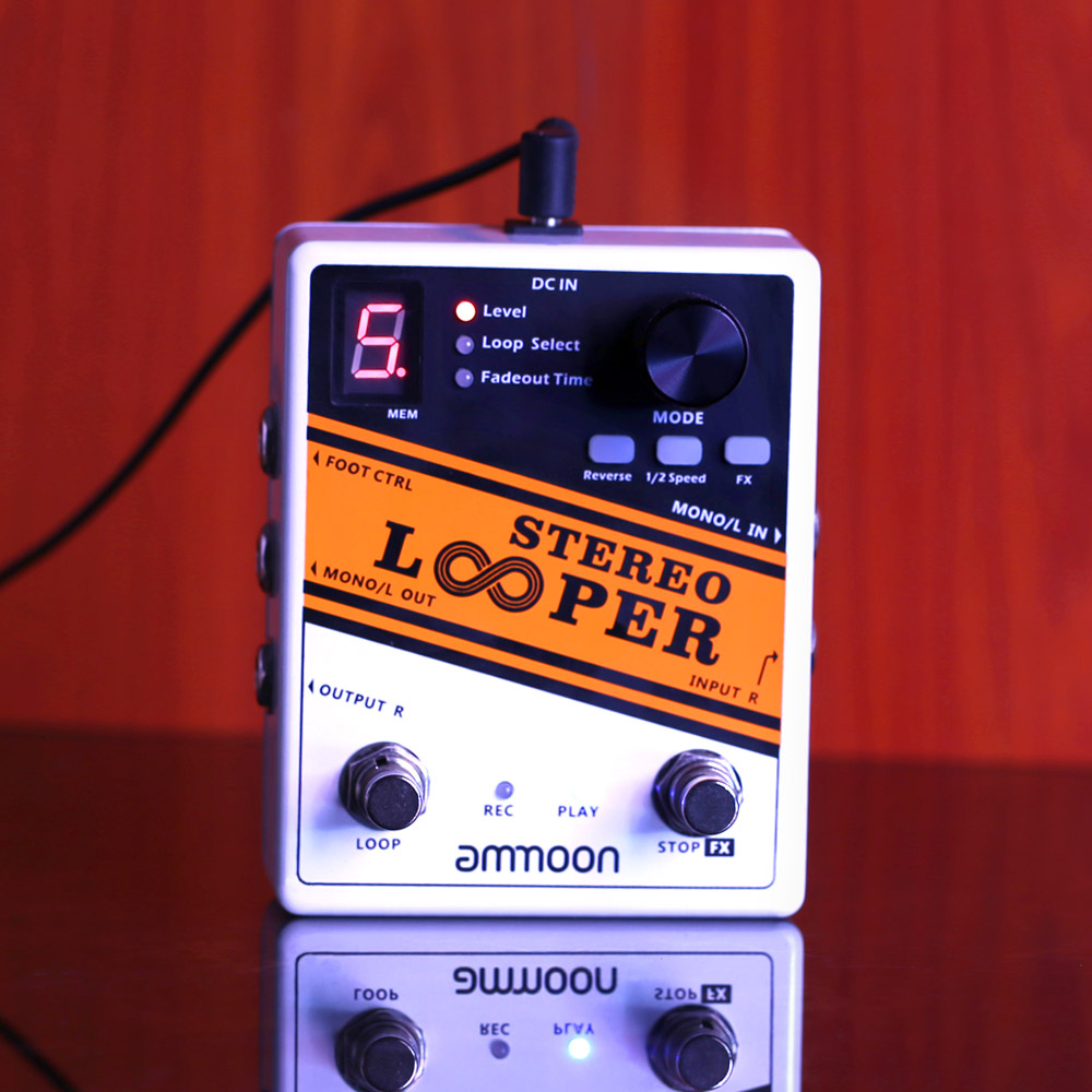 ammoon stereo looper loop record guitar effect pedal 10 independent loops max 10min recording. Black Bedroom Furniture Sets. Home Design Ideas
