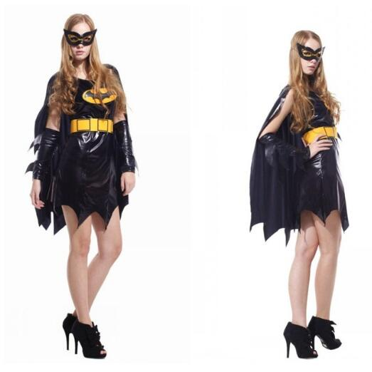 Ladies Purim Costumes Batman Carnival costume for adult women's elegant dress suit for Halloween evening events