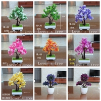 1pc Lot Simulation Small Bonsai Plants Artificial Flower Potted Bonsai For Living Room Wedding Party Office