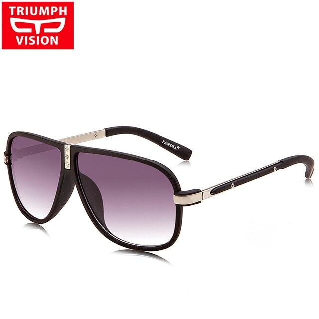 TRIUMPH VISION 2017 Luxury Brand Designer Sunglasses Men With Original Box Cool Sun Glasses Male UV400 Gradient Lens Oculos New