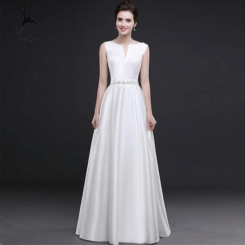 Simple design sleeveless a line wedding dress stunning v for A line corset wedding dress
