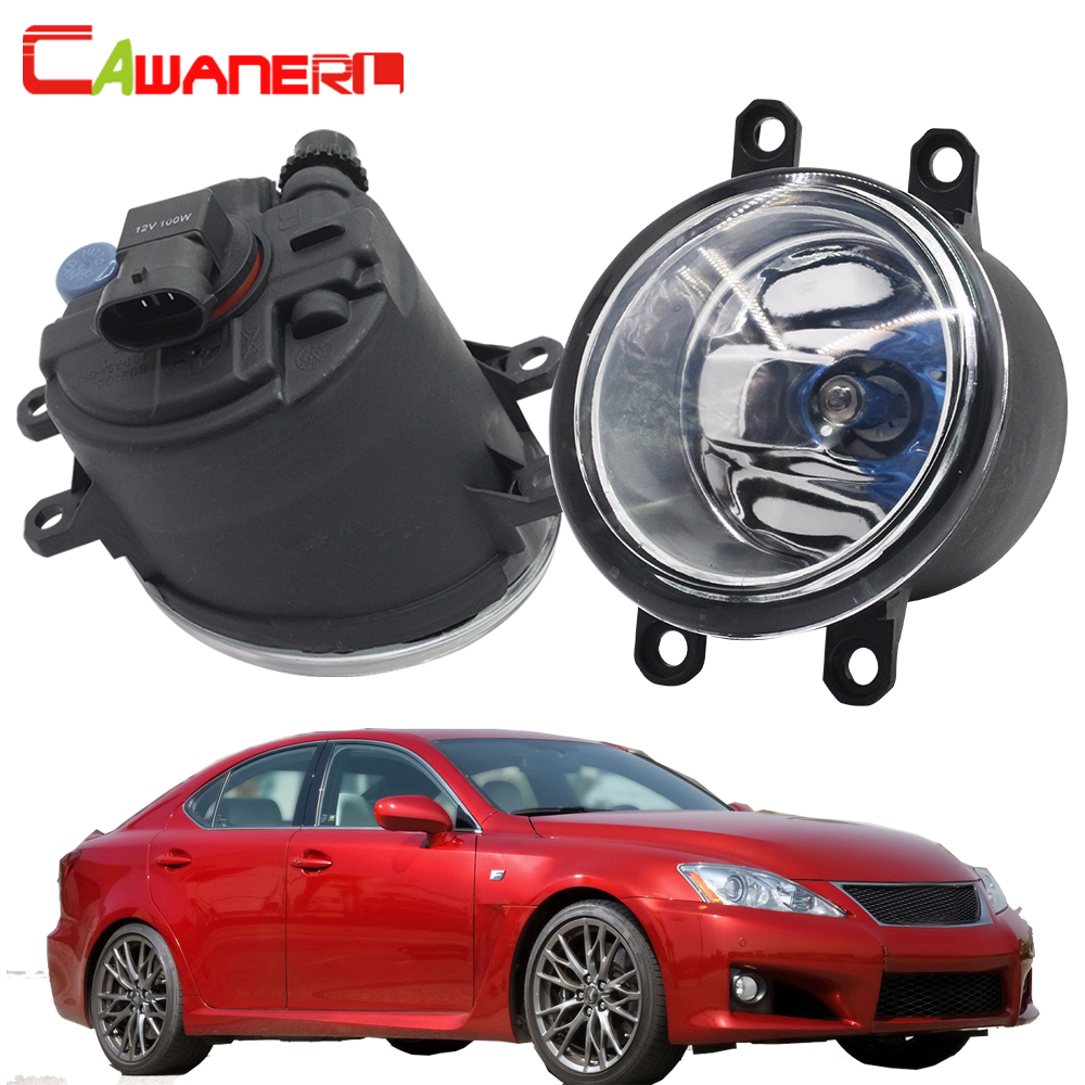 Cawanerl 2 X 100W H11 Car Halogen Fog Light Daytime Running Lamp DRL 12V For 2008-2013 Lexus IS250 IS350 with F-Sport package cawanerl 2 x 100w h11 car halogen bulb fog light daytime running lamp drl 12v styling for nissan x trail t30 t31 2001 2015
