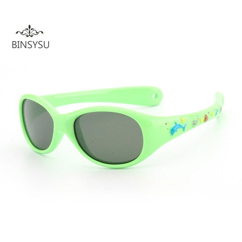 Kids little Baby whale Cartoon Sun glasses Children Super Light silicone small size Polarized lenses mirror children sunglasses