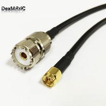 RF UHF к SMA кабель адаптер UHF Женский SO239 к SMA Мужской прямой Пигтейл RG58 50 см/100 см