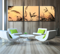 Unframed 3 Panel Sunset Landscape Wall Art Picture Canvas Printed Oil Painting By Numbers Home Decal