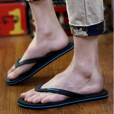eb334918f Free shipping summer fashion wear-resistant rubber flip flops men beach slippers  shoes comfortable sandals