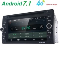 6.2''2Din 2GRAM Android 7.1 Car Dvd Player Audio Stereo For Universal Gps Navigation Steering Wheel 2Din Radio Recorder Wifi Map