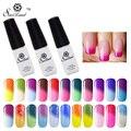 Saviland 1pcs Temperature Change LED UV Gel Nail Polish Long Lasting 24 Colorful Mood Color Changing Thermo Varnishes