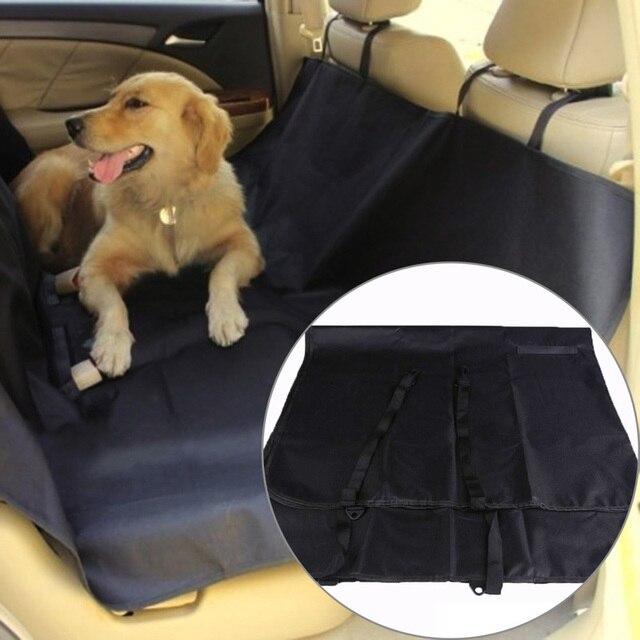 Couverture de siège arrière pour voiture Pet couverture imperméable pour animaux de compagnie couverture de coussin hamac pour sièges de voiture noir