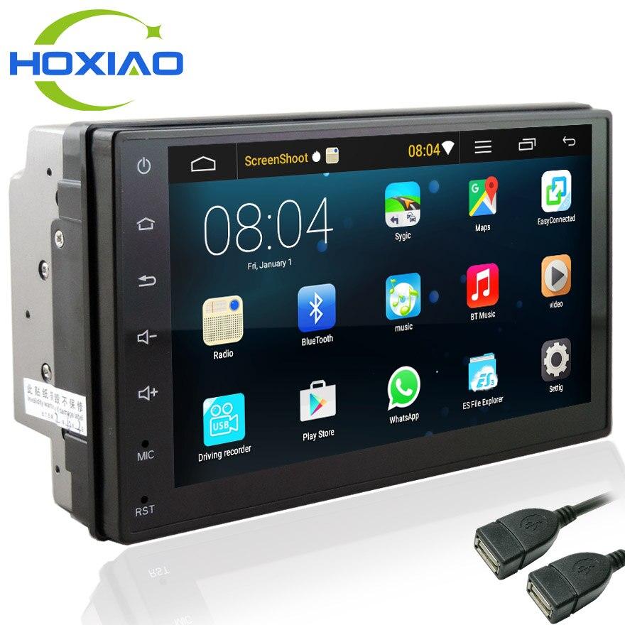 Android 6,0 автомобилей Радио 7 дюймов 2din DVD 1024x600 gps навигации Bluetooth USB 2 din универсальный для Nissan VW Toyota peugeot плеер