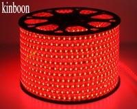 LED Strip Waterproof SMD 5050 AC220V 100M Red led stripe 5050 220V Light With EU Power Plug Christmas LED Strip 100 meter