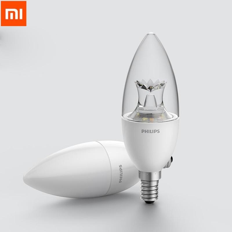 2018 New Original Xiaomi Smart Candle ShapeLED Lamp E14 Bulb 3.5W 0.1A 220-240V 50/60Hz Wifi Remote Control by Mi home App