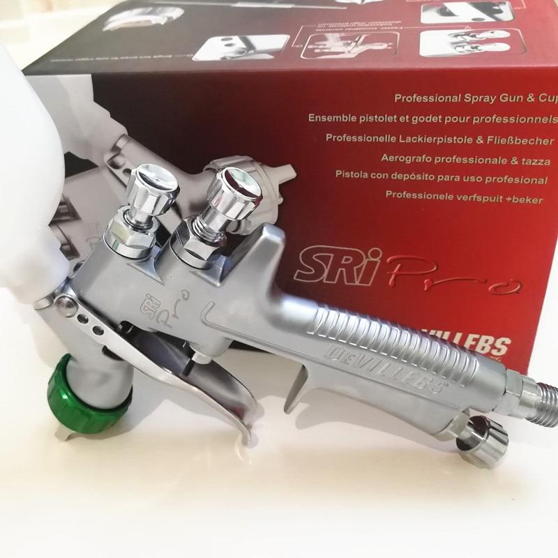 SPRAY GUN HVLP 1.2mm paint spray gun DEVILLEBS SRI PRO Gravity Feed Paint pot volume 250ml mini paint sprayer devilbiss spray gun gfg pro red page 5