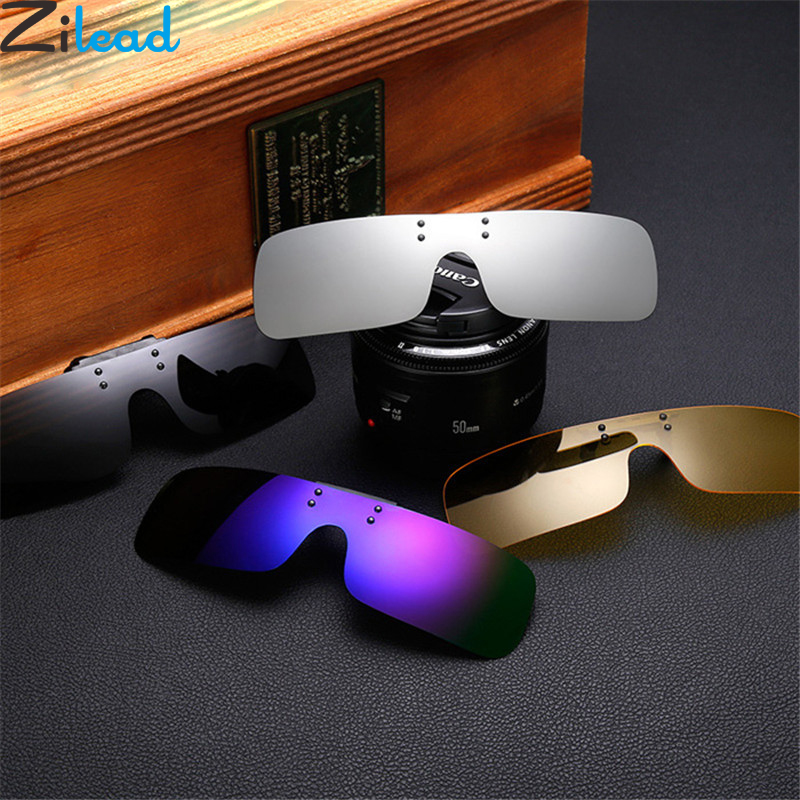 Zilead Polarized Clip On Sunglasses Short Sight Driving Night Vision Lens Anti-UVA Anti-UVB Outdoor Sunglasses Clip Unisex