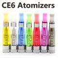 10 unids/lote CE4 + CE4S eGo CE6 atomizador Color mezclado Clearomizer con reemplazable Core para e-cigarrillo evod ego-T / v