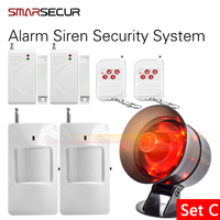 Loudly Easy DIY setting Simple to operate Wireless Home House Alarm Siren System Security Alarm System for Warehouse Garage