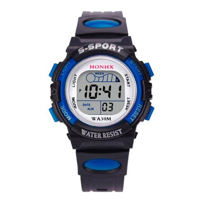 Aimecor 2018 New Waterproof Children Boys Digital LED Sports Watch Kids Alarm Da