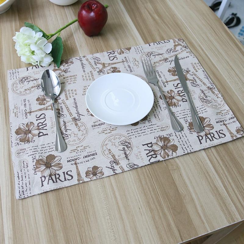 Paris eiffel tower table mat knife dish bow placemat heat