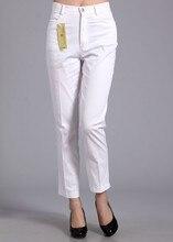casual feminina calças algodão
