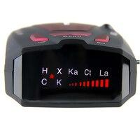 Hot! 16 Band Anti Car Radar Detector Russian/English for Car V7 X K NK Ku Ka Laser VG 2 LED Display Red Car Detector