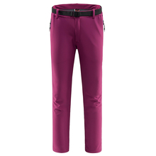 New Ladies Windstopper Breathable Pantalones Mujer Softshell Outdoor Sport Climbing Hiking Pants Women Trekking Camping Trousers