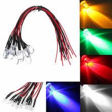10 Pcs DC 12 V 18 cm 3mm Pré-wired LED Cabo de Luz Da Lâmpada do Bulbo Do Diodo Emissor de luz Do Carro Fonte de luz