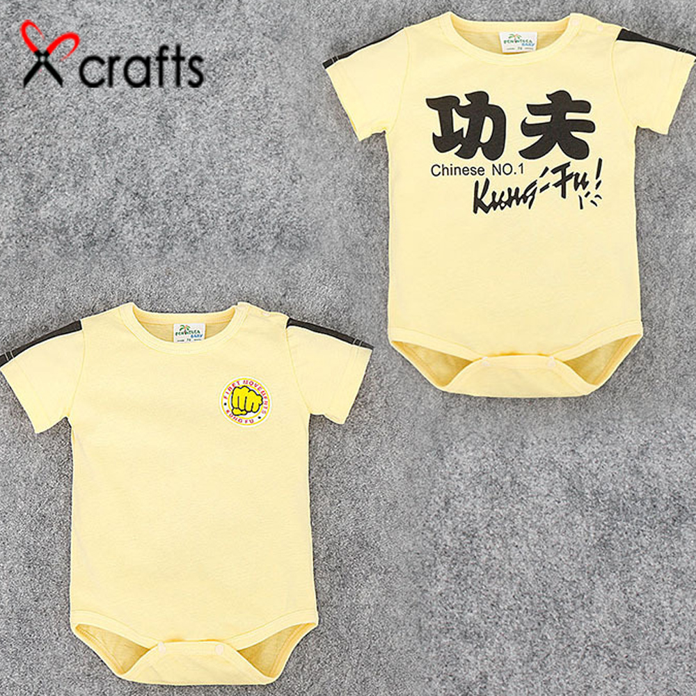 Infant clothes pure cotton quality baby conjoined clothes Gongfu short sleeve baby clothes triangle conjoined clothes