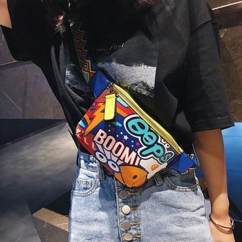 Bolso bandolera #35 para Mujer, bandolera con estampado De grafiti, bandolera ancha, bolso De mano BU