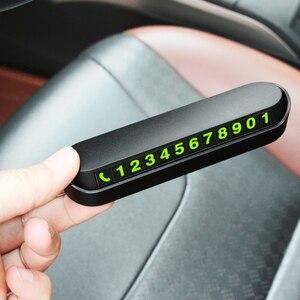 Image 1 - Numero di Carta Del Telefono di Parcheggio temporaneo Luminoso Piastra Per VW Passat B5 B6 CC Tiguan Golf 6 7 MK6 Polo bora Jetta Accessori