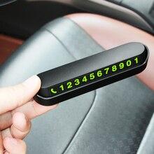Tarjeta de estacionamiento temporal luminosa, placa de tarjetas de número de teléfono para VW Passat B5 B6 CC Tiguan Golf 6 7 MK6 Polo Bora Jetta, accesorios