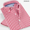 New Style Men's Shirts 2016 Casual Patterns Plaid  Men Shirt Short Sleeve Men Clothes Slim Fit Camisa Masculina 5XL 6XL