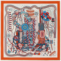 130cm*130cm 100% Silk Euro Brand Style Women Colorful Wonderful World Pattern Printed Silk Square Scarf Fairy tale Shawls