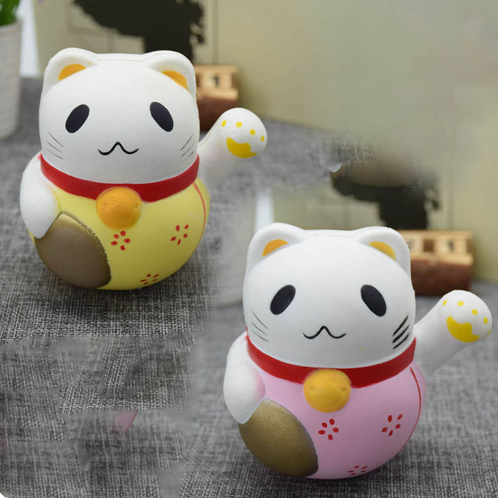 1pc Kawaii Collection cat Squeeze Healing Fun Kids Toy Stress Reliever Decor Cat