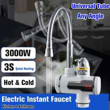 220V 3000W Electric Hot Faucet Water Heater Electric Tankless Water Heating Kitchen Faucet Digital Display Instant Water Tap(China)