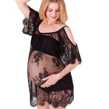 #5001 Women Pregnants Sexy Photography Props Dress Lace Strapless Dress DROPSHIPPING New Arrival Freeshipping Hot Sales(China)
