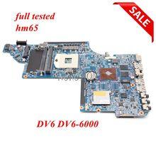NOKOTION placa base de computadora portátil 659998 001 para HP DV6 DV6 6000 placa principal de 641487 001 659147 001 HPMH 41 AB6200 D00G DDR3 la prueba