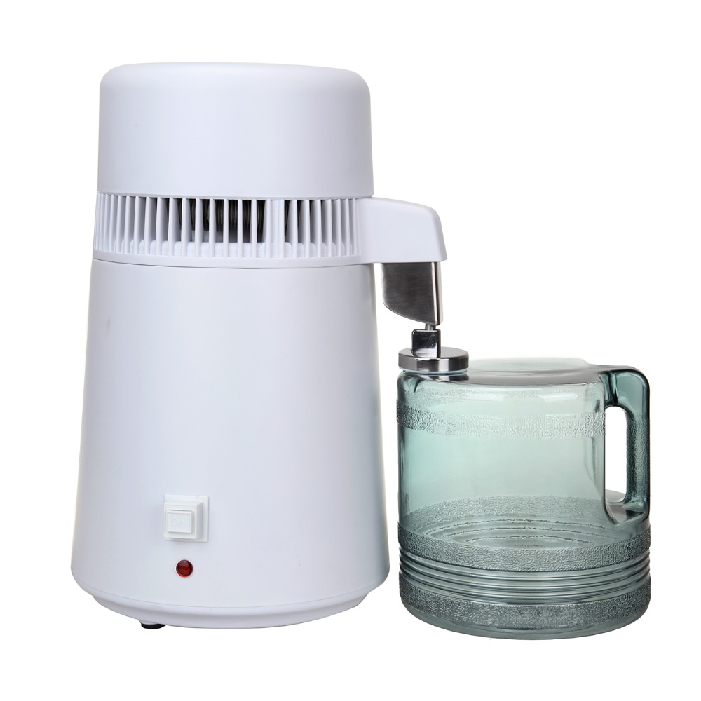 (Ship From EU) 4L Pure Water Distiller Filter Machine Purifier Filtration Hospital Home Office Kitchen Wasser Destillie