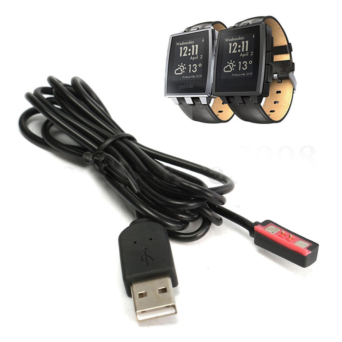 Top Deals New USB Megnetic Charger Cable For Pebble Steel 2 Smart Watch Wristwatch
