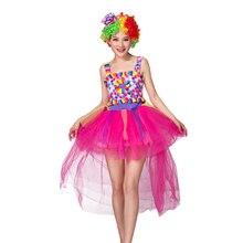 Распродажа, классические карнавальные костюмы на Хэллоуин, карамельный цвет, клоун с шапкой, Маскарадные костюмы, платье феи, праздничный клоун для женщин