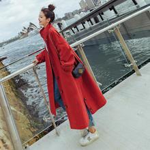 2020 Fashion Spring Autumn Long Trench Coats Women Khaki Red Windbreak Single Br