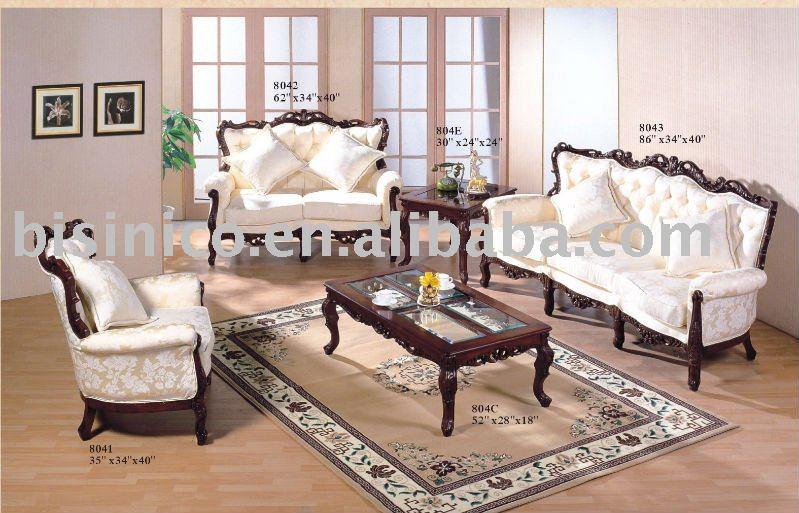 Classical American Living Room Sets Single Sofa Love Sofa Three