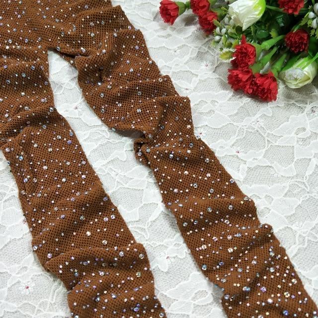 Diamond Fishnet Mesh Thigh-High Stockings  5