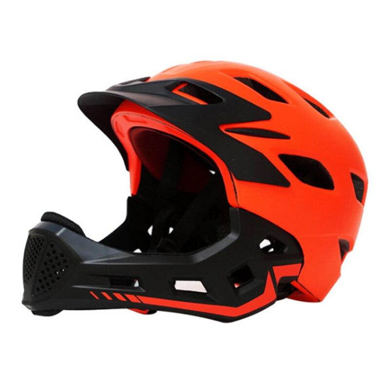 LOCLE 3 10 Years Old Full Covered Kid Helmet Balance Bike Children Full Face Helmet Cycling