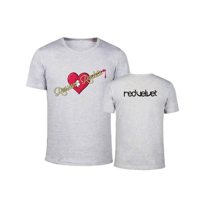 200096b7a477ca Online Shop HPEIYPEI KPOP Korean Fashion Red Velvet Album RUSSIAN ROULETTE  Cotton Tshirt K-POP T Shirts T-shirt PT201